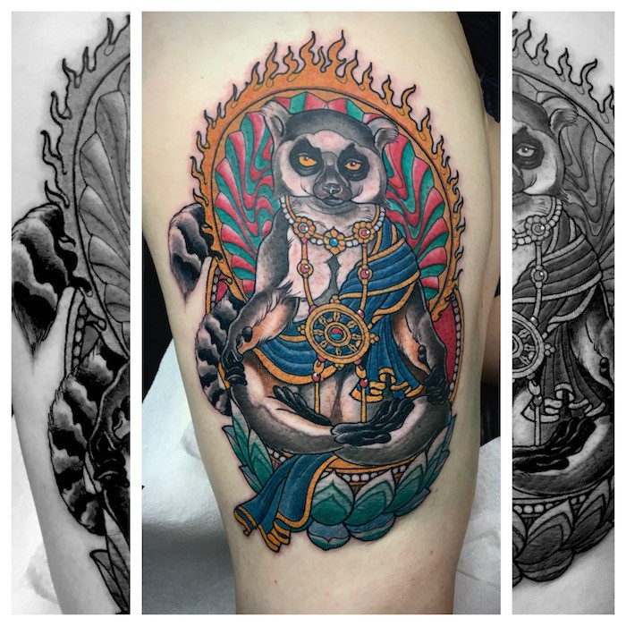 Divine Aminal Neo-Traditional Tattoo